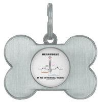 Heartbeat Is My Internal Music (ECG/EKG) Pet ID Tags