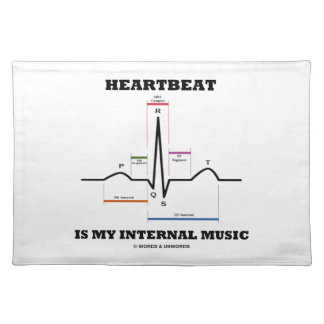 Heartbeat Is My Internal Music (ECG/EKG) Placemat