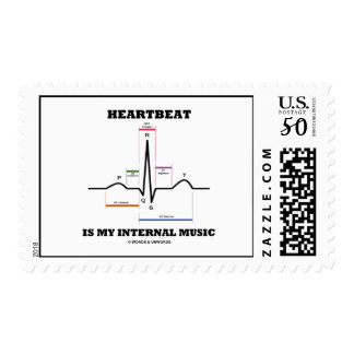 Heartbeat Is My Internal Music (ECG/EKG) Postage