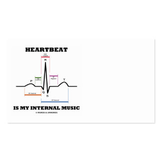 Heartbeat Is My Internal Music (ECG/EKG Rhythm) Double-Sided Standard Business Cards (Pack Of 100)