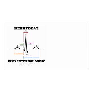 Heartbeat Is My Internal Music (ECG/EKG Rhythm) Business Card Template