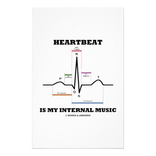 Heartbeat Is My Internal Music (ECG/EKG) Personalized Stationery
