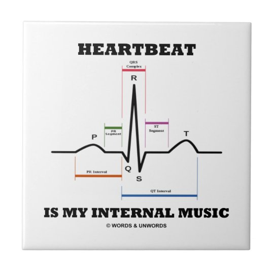 Heartbeat Is My Internal Music (ECG/EKG) Tile