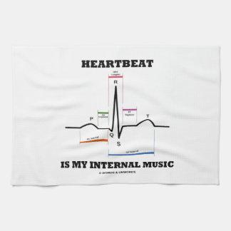 Heartbeat Is My Internal Music (ECG/EKG) Towel