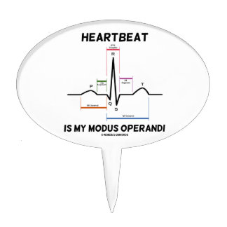 Heartbeat Is My Modus Operandi (Electrocardiogram) Cake Picks