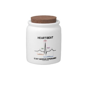 Heartbeat Is My Modus Operandi (Electrocardiogram) Candy Dish