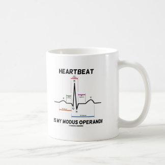 Heartbeat Is My Modus Operandi (Electrocardiogram) Coffee Mug