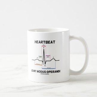 Heartbeat Is My Modus Operandi (Electrocardiogram) Mug