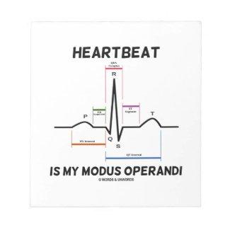 Heartbeat Is My Modus Operandi (Electrocardiogram) Memo Pads