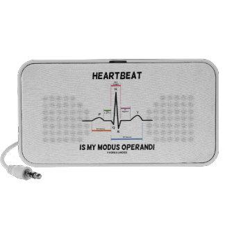 Heartbeat Is My Modus Operandi (Electrocardiogram) Notebook Speakers