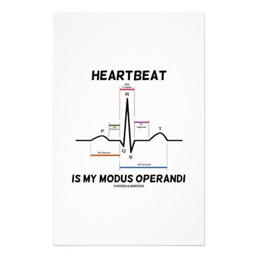 Heartbeat Is My Modus Operandi (Electrocardiogram) Stationery Design
