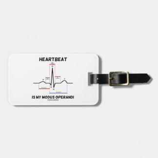Heartbeat Is My Modus Operandi (Electrocardiogram) Tags For Bags