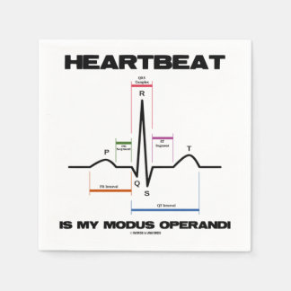 Heartbeat Is My Modus Operandi Sinus Rhythm Paper Napkin