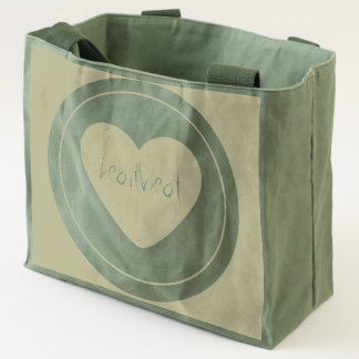 Heartbeat large heart canvas utility tote