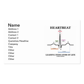 Heartbeat Leading Indicator Of Life (ECG/EKG) Double-Sided Standard Business Cards (Pack Of 100)