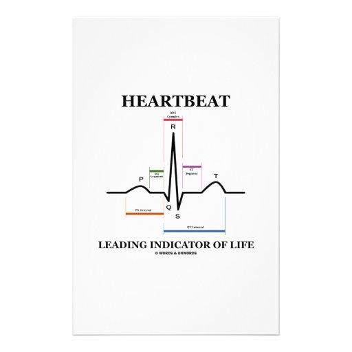 Heartbeat Leading Indicator Of Life (ECG/EKG) Customized Stationery