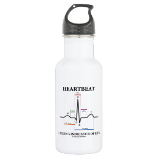 Heartbeat Leading Indicator Of Life (ECG/EKG) Water Bottle