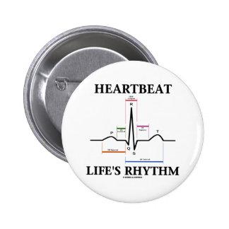 Heartbeat Life's Rhythm (ECG/EKG Heartbeat) Button