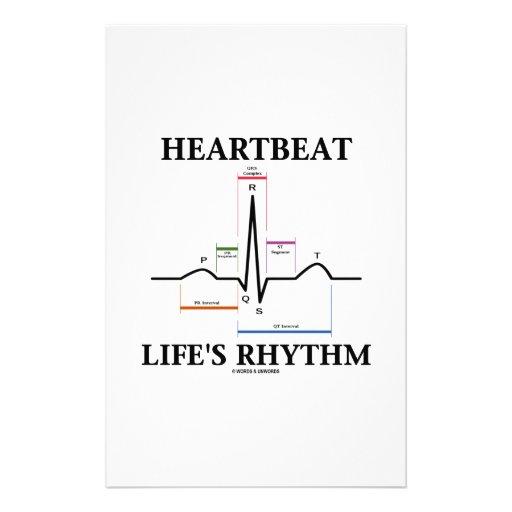 Heartbeat Life's Rhythm (ECG/EKG Heartbeat) Stationery