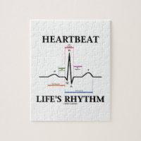 Heartbeat Life's Rhythm (ECG/EKG) Jigsaw Puzzle