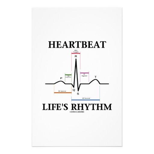 Heartbeat Life's Rhythm (ECG/EKG) Custom Stationery