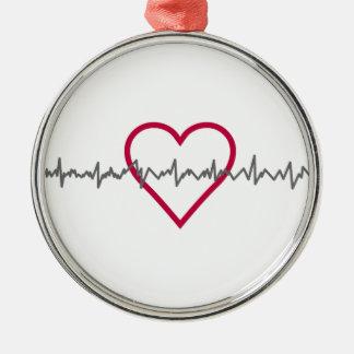 Heartbeat Metal Ornament