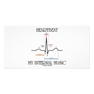 Heartbeat My Internal Music (ECG/EKG Heartbeat) Photo Greeting Card