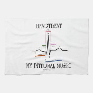 Heartbeat My Internal Music (Electrocardiogram) Hand Towels