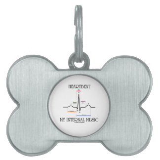 Heartbeat My Internal Music (Electrocardiogram) Pet Tag
