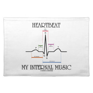 Heartbeat My Internal Music (Electrocardiogram) Placemat