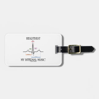 Heartbeat My Internal Music (Electrocardiogram) Travel Bag Tag