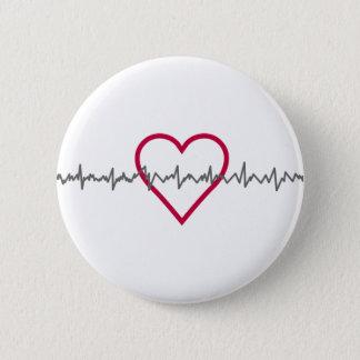 Heartbeat Pinback Button