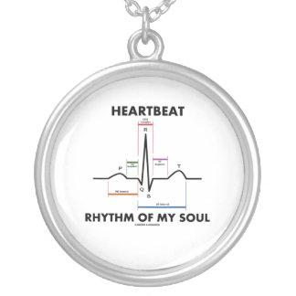 Heartbeat Rhythm Of My Soul (ECG/EKG) Round Pendant Necklace