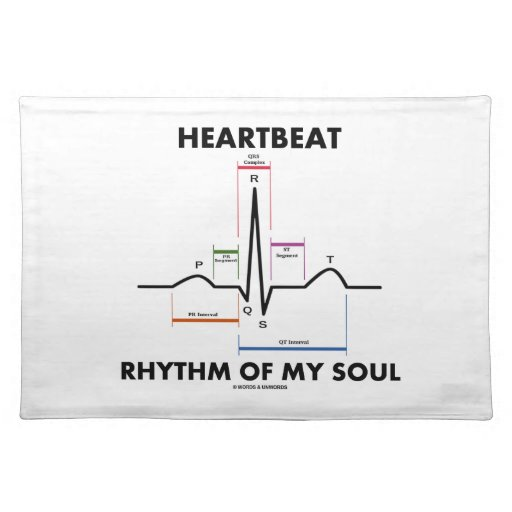 Heartbeat Rhythm Of My Soul (Electrocardiogram) Placemat