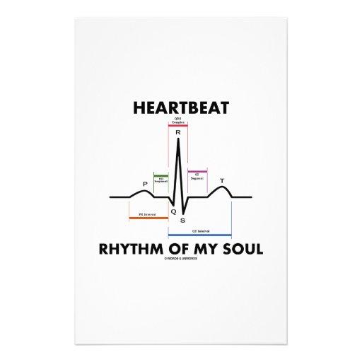 Heartbeat Rhythm Of My Soul (Electrocardiogram) Stationery Paper