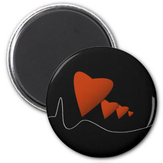 Heartbeats 2 Inch Round Magnet