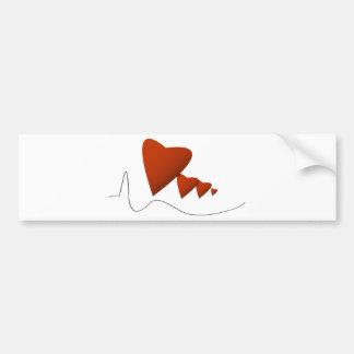 Heartbeats Bumper Sticker