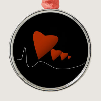 Heartbeats Metal Ornament