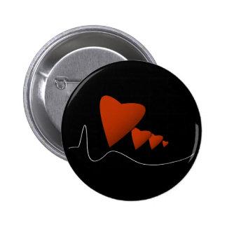 Heartbeats Pinback Button
