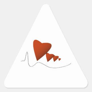 Heartbeats Triangle Sticker