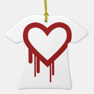 Heartbleed Bug 2014 - High Quality Double-Sided T-Shirt Ceramic Christmas Ornament