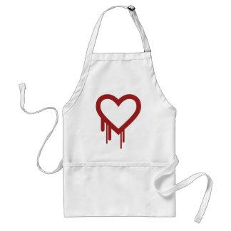 Heartbleed - High Quality Logo Adult Apron