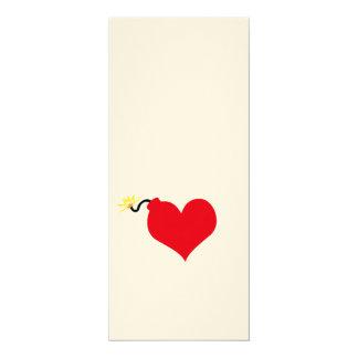 "HeartBomb 4"" X 9.25"" Invitation Card"