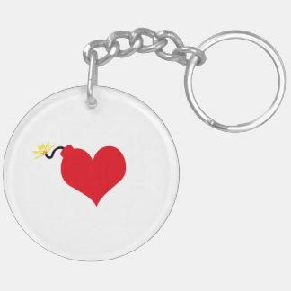 HeartBomb Keychain