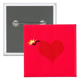 HeartBomb Pinback Button