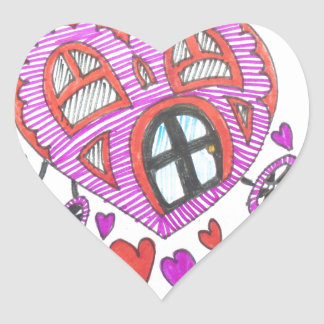 HEARTBREAK  HOTEL HEART STICKER