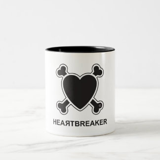 Heartbreaker (black) Two-Tone coffee mug