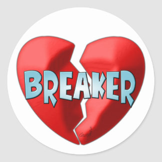Heartbreaker Classic Round Sticker