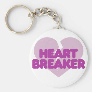 Heartbreaker cute purple heart keychain