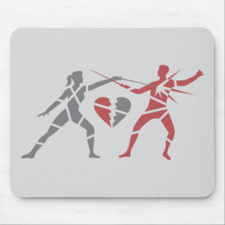 Heartbreaker Fencing Duel Mouse Pad
